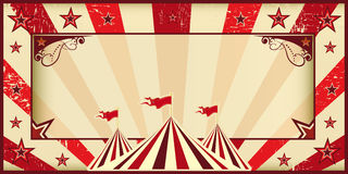 Red circus invitation Stock Photography