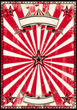 Red circus retro poster. A red and black vintage circus background for a poster Royalty Free Stock Images