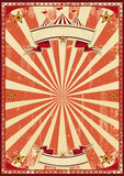 Red circus retro. A red vintage circus background for a poster vector illustration