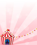 A red circus tent with banners Royalty Free Stock Photos