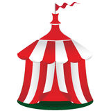 Red circus tent icon Stock Photos