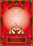 Red circus vintage poster Stock Image