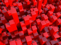 Red city. Architectural background with red cubes Royalty Free Stock Photo