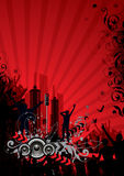 Red City Background vector illustration