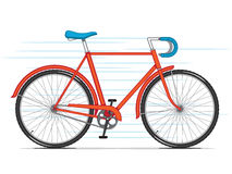 Red City Bicycle Royalty Free Stock Image