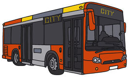 Red city bus Royalty Free Stock Images