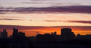 Red city dawn Stock Photos