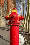 Red City Fire Hydrant Royalty Free Stock Photography