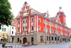 Red City Hall in Renaissance style,Gotha,Germany Royalty Free Stock Photography