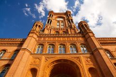 Red City Hall - Rotes Rathaus, Berlin, Mitte, Germany stock photos