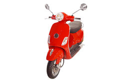 Red city scooter Stock Photography