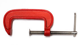 Red clamp Stock Photography