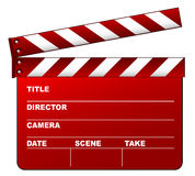 Red clapboard. On the white background Royalty Free Stock Photos
