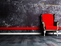 Red classic armchair Royalty Free Stock Photography