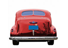 Red Classic Car. A close up on a red classic car Royalty Free Stock Images
