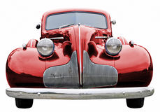 Red Classic Car. A close up on a red classic car Royalty Free Stock Photo