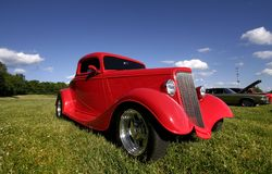 Red Classic Car Stock Image
