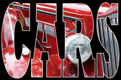 Red classic car vector illustration