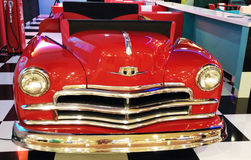 Red classic car. Red classic coupe car to display Royalty Free Stock Images