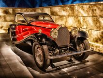 Red Classic Car on Display Royalty Free Stock Photos