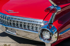 Red Classic Car. Red classic sports car on wheels on Wyandotte Stock Image