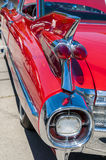 Red Classic Car. Wheels on wyandotte classic car show on display Stock Photo