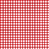 Red classic checkered table cloth texture, background with copy space. Pattern for card or banner. Vector illustration royalty free illustration