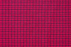 Red classic checkered  texture, background with copy space Stock Photography
