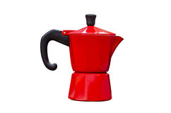 Red classic coffee pot Stock Images