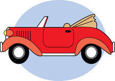 Red Classic Convertible Stock Images