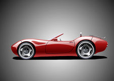 Red classic convertible. On grey background vector illustration