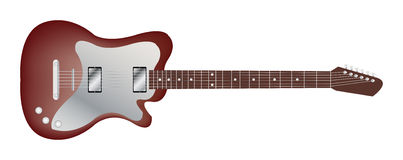 Red classic electric guitar Royalty Free Stock Image