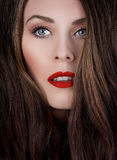 Red classic makeup Royalty Free Stock Images