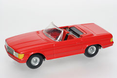 Red Classic Mercedes toy cars. One of the many thousand  toys my brother is collecting. Tin Mercedes Stock Image