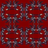 Red classic pattern wallpaper retro Stock Photo