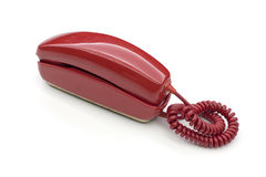 Red classic phone Stock Photos
