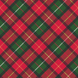Red classic plaid pixel texture seamless pattern. Vector illustration stock illustration