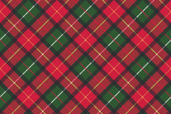 Red classic plaid pixel texture seamless pattern. Vector illustration Stock Image