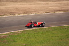 Red classic race car Royalty Free Stock Images
