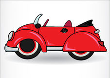 Red classic retro car.  on white background Royalty Free Stock Images