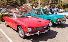 Red classic 1964 Rivolta GT Coupe Royalty Free Stock Image