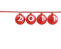 Red classic shiny chirstmas balls, 2011 Stock Image