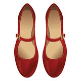 Red classic shoe Royalty Free Stock Photos