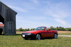 Red classic sports car Royalty Free Stock Photo