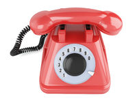 Red classic telephone Stock Photo