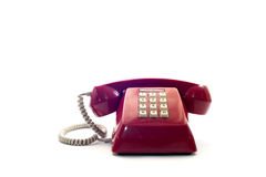 Red classic telephone Stock Images