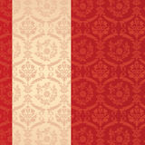 Red classical damask vertical banner Royalty Free Stock Image