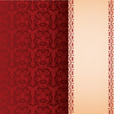 Red classical oriental floral vertical banner Royalty Free Stock Images