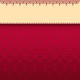 Red classical oriental pattern banner Stock Photo