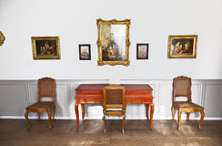 Red clavichord in the music room in the Goethe museum Stock Photography
